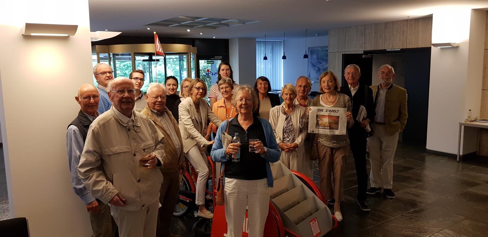 Besuchergruppe bei Springer